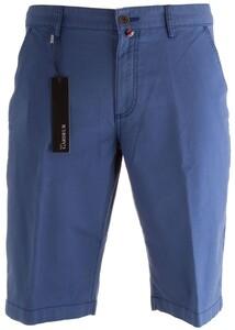 Gardeur Jasper Flat-Front Stretch Cotton Bermuda Bermuda Midden Blauw
