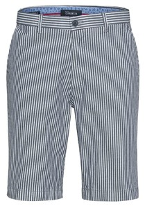 Gardeur Jasper Striped Shorts Bermuda Blauw