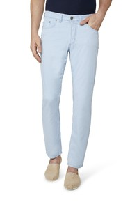 Gardeur Nevio-13 Sun Faded Cotton Pants Light Blue
