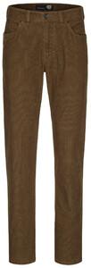 Gardeur Nevio-8 FineCord 5-Pocket Corduroy Trouser Dark Beige