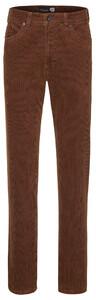 Gardeur Nevio-8 FineCord 5-Pocket Corduroy Trouser Terracotta