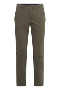 Gardeur Sem-1 3D Two Tone Effect Comfort Stretch Pants Dark Olive Green
