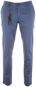 Gardeur Seven Slim-Fit Iconic Khakis Broek Midden Blauw
