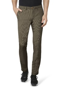 Gardeur Simon Two-Tone Effect Comfort Stretch Broek Zand
