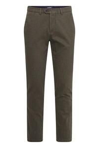 Gardeur Sonny-8 Cotton Check Broek Bruin-Groen
