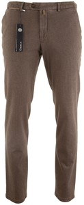 Gardeur Sonny-8 Slim-Fit Structure Broek Midden Bruin
