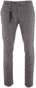 Gardeur Sonny-8 Slim-Fit Wool-Look Structure Broek Midden Grijs