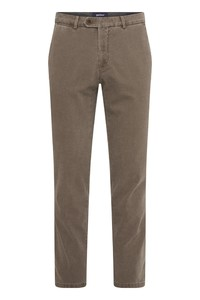 Gardeur Sonny Knit Look Structure Smart Casual Pants Mid Brown