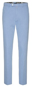 Gardeur Sonny Slim-Fit Fine Structure Pants Light Blue