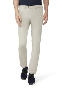 Gardeur Two-Tone Effect Sonny-8 Fine Structure Pants Stone
