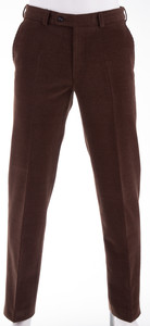 Gardeur Wollen Ribbroek Corduroy Trouser Dark Brown Melange