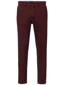 Gardeur Wool Look Printed Benny Pants Bordeaux