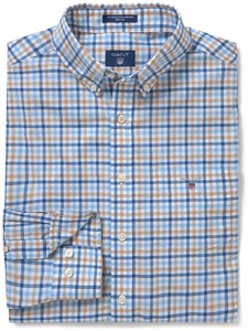 Gant The Broadcloth 3 Color Gingham Donker Khaki