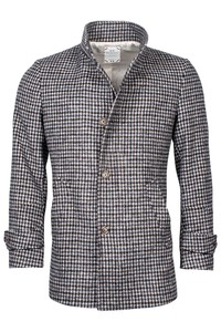 Giordano Brian Wool Mix Check Jas Blue-Black-Sand