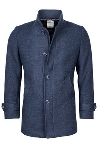 Giordano Brian Wool Mix Solid Doubleface Jas Blauw