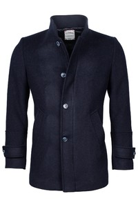 Giordano Brian Wool Mix Solid Doubleface Jas Navy