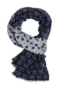 Giordano Fantasy Pattern Wool Mix Sjaal Navy-Sand-Ocre