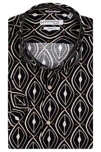 Giordano Front African Fantasy Pattern Overhemd Zwart