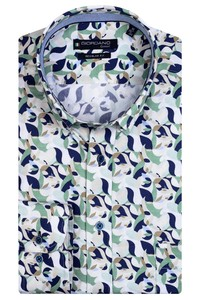 Giordano Ivy Button Down Graphic Fantasy Overhemd Donker Groen