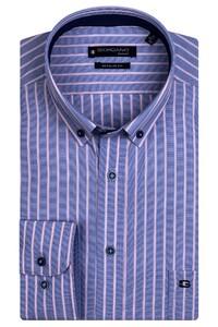 Giordano Ivy Colorful Stripe Overhemd Midden Blauw