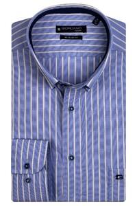 Giordano Ivy Colorful Stripe Shirt Bright Blue