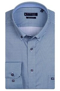 Giordano Ivy Graphic Fantasy Mini Check Overhemd Aqua Blue