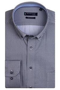 Giordano Ivy Graphic Fantasy Mini Check Overhemd Donker Bruin
