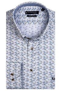 Giordano Ivy Mini Fish Pattern Overhemd Donker Groen