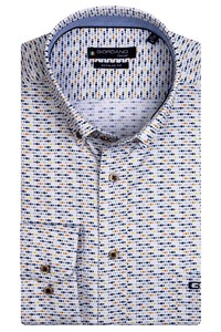 Giordano Ivy Mini Fish Pattern Overhemd Geel