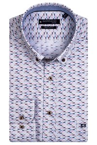 Giordano Ivy Mini Fish Pattern Overhemd Rood