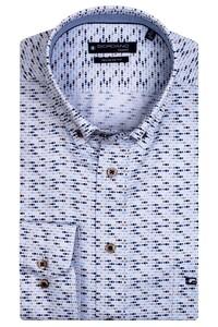 Giordano Ivy Mini Fish Pattern Shirt Dark Navy