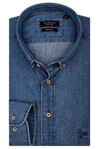 Giordano James Button Down Washed Denim Overhemd Licht Blauw