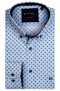 Giordano Kennedy Fancy Pattern Overhemd Aqua Blue