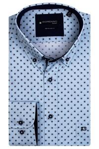 Giordano Kennedy Fancy Pattern Shirt Aqua Blue