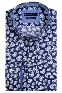 Giordano Kennedy Flower Fantasy Overhemd Donker Groen