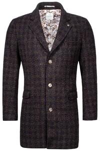 Giordano Long Coat Boucle Look Coat Anthra-Multi