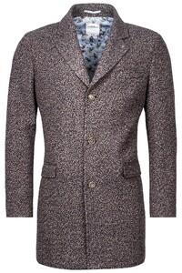 Giordano Long Coat Boucle Look Coat Brown-Multi