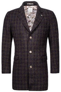 Giordano Long Coat Boucle Look Jas Anthra-Multi