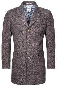 Giordano Long Coat Boucle Look Jas Brown-Multi