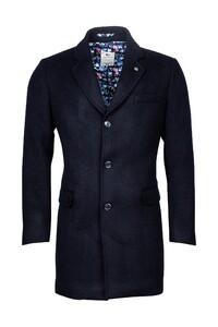 Giordano Long Coat Wool Mix Solid Doubleface Coat Navy