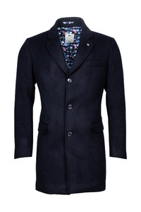 Giordano Long Coat Wool Mix Solid Doubleface Jas Navy