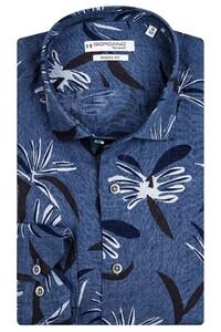 Giordano Maggiore Cutaway Flower Overhemd Jeans Blauw