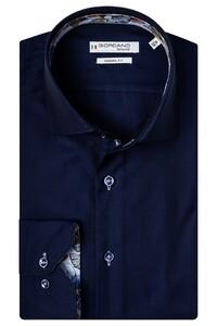 Giordano Maggiore Cutaway Luxury Fine Twill Overhemd Dark Navy