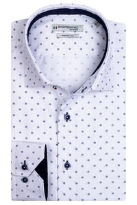 Giordano Maggiore Cutaway Mini Flower Overhemd Wit