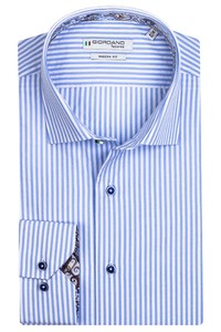 Giordano Maggiore Cutaway Two Tone Stripe Overhemd Licht Blauw