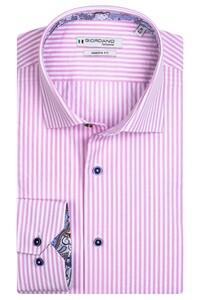 Giordano Maggiore Cutaway Two Tone Stripe Overhemd Licht Roze