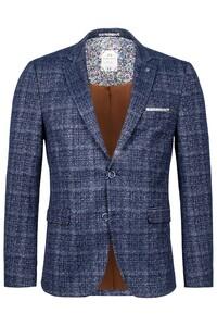 Giordano Robert Knitted Weave Look Colbert Navy