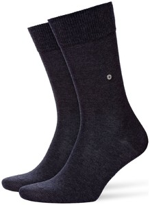 Burlington Lord Socks Zwart-Antraciet