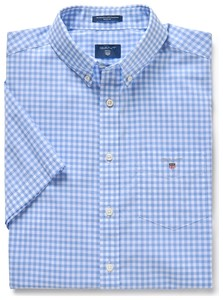 Gant The Broadcloth Gingham Short Sleeve Capri Blue