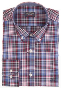Paul & Shark Red-Blue Modern Check Rood